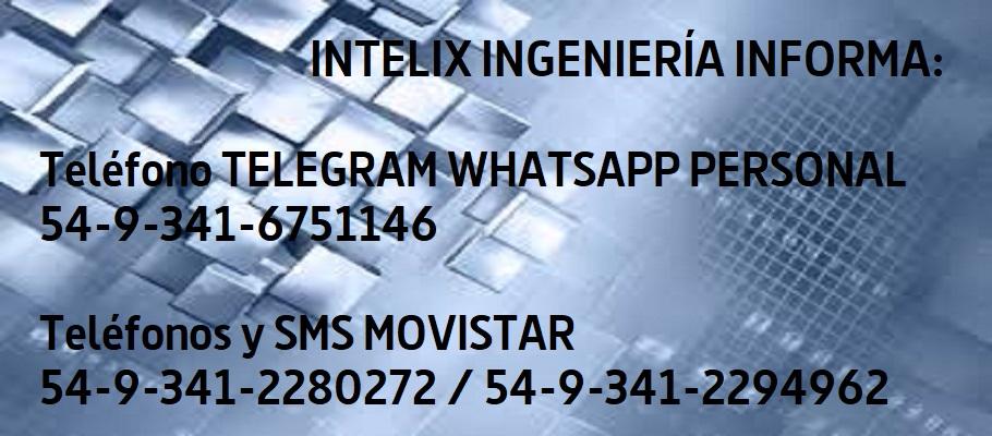 INTELIX INFORMA NUEVOS NUMEROS TELEFONICOS